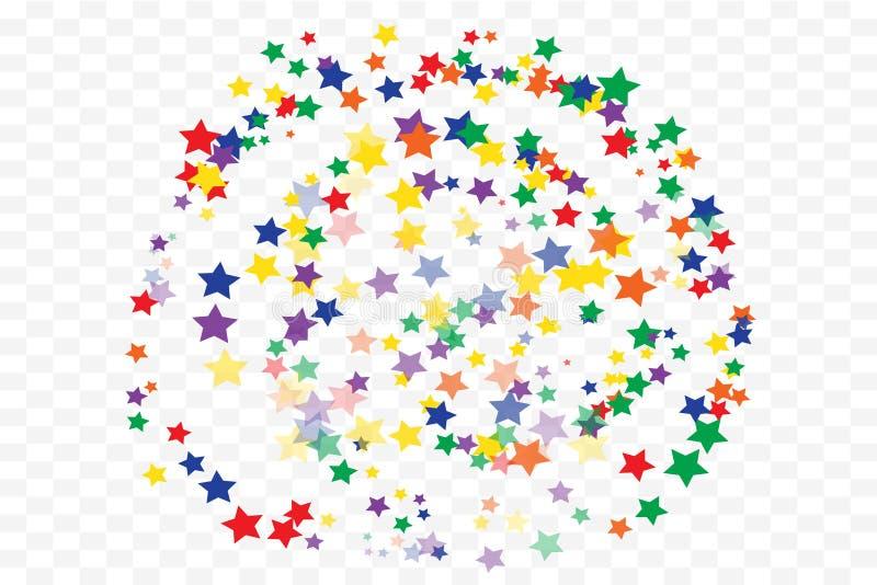 Świąteczny gwiazda confetti tło ilustracji