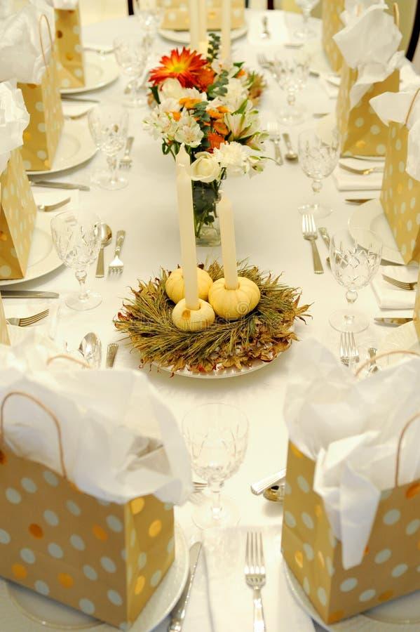 świąteczny jesień stół obrazy royalty free