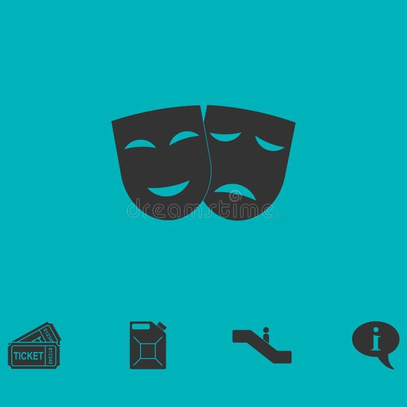 Świąteczny maski ikony mieszkanie ilustracji