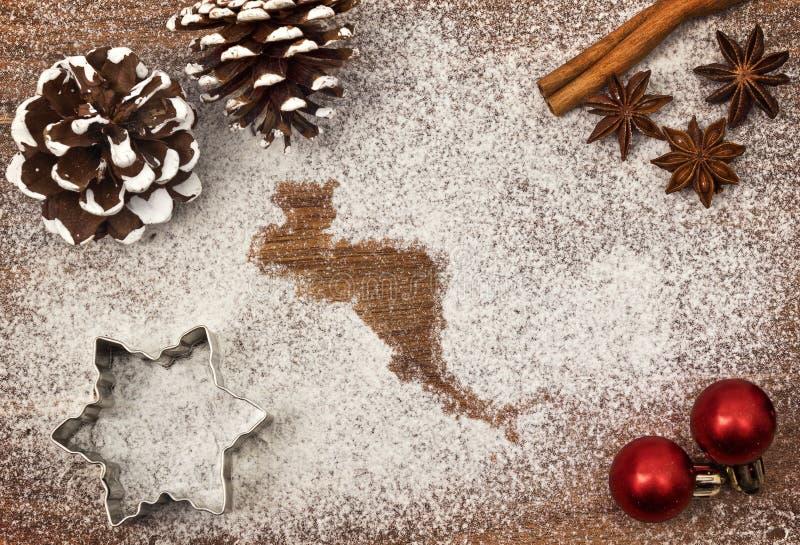 Świąteczny motyw mąka w formie Ameryka Środkowa serii zdjęcie stock