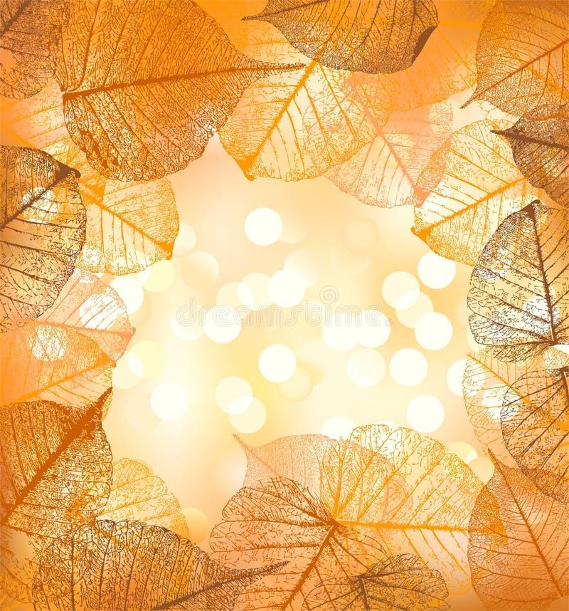 Świąteczny tło wektorowi jesień liście ilustracja wektor