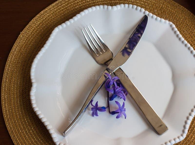 Świąteczny tableware zdjęcie stock