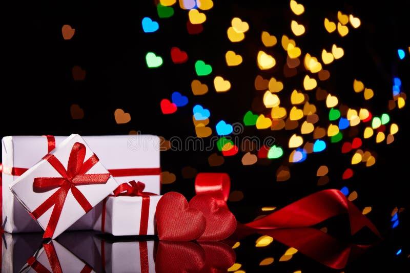 Świąteczny walentynka dnia tło obraz stock