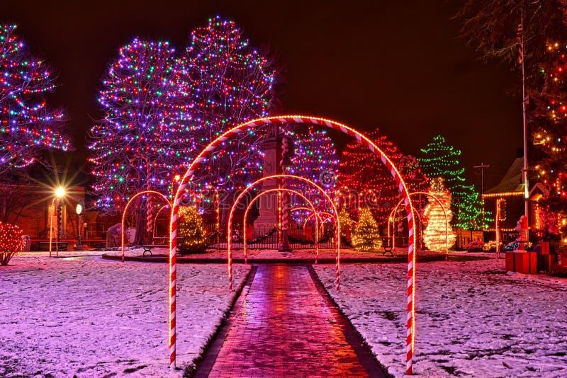 Świąteczny wiosek bożych narodzeń pokaz obraz royalty free