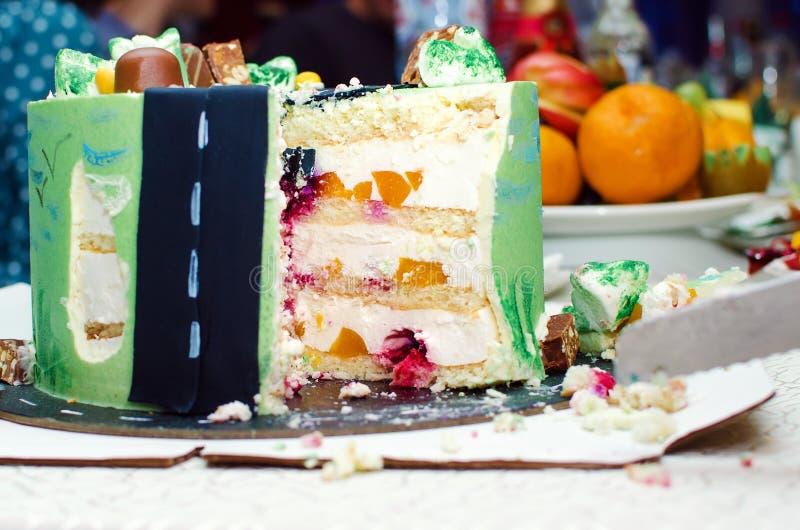 Świąteczny wyśmienicie tort zdjęcie stock