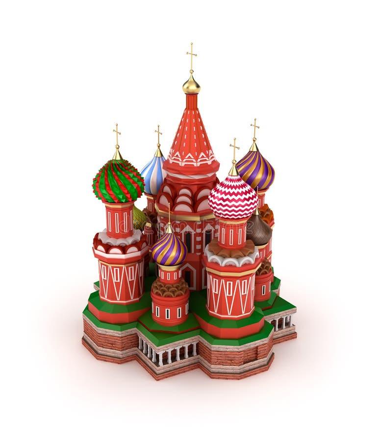 Świątobliwa basil katedra na plac czerwony w Moskwa, Rosja royalty ilustracja