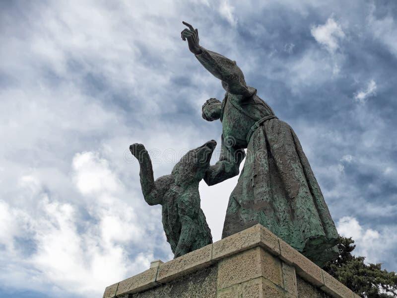 Świątobliwa Francis statua w monterosso obraz stock