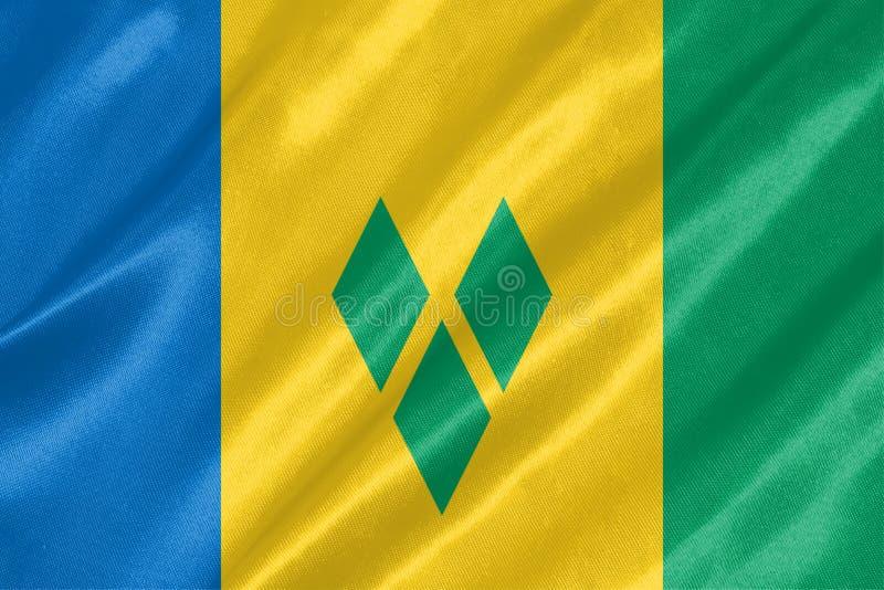 Świątobliwa i Vincent grenadyny flaga ilustracja wektor