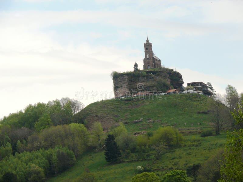 Świątobliwa Léon kaplica umieszczał na skale Dabo w Moselle obrazy royalty free