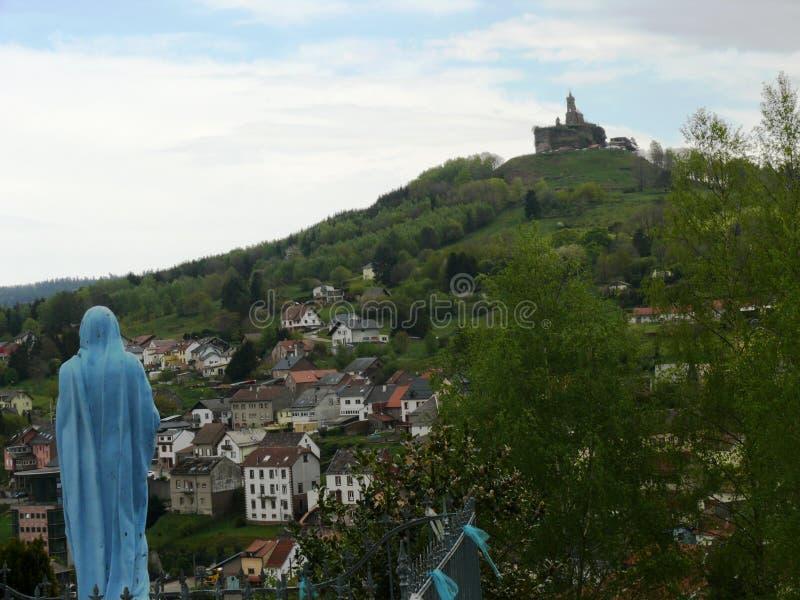 Świątobliwa Léon kaplica umieszczał na skale Dabo w Moselle obraz royalty free