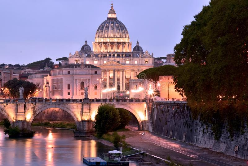 Świątobliwa Peter katedra w Rzym zdjęcia royalty free