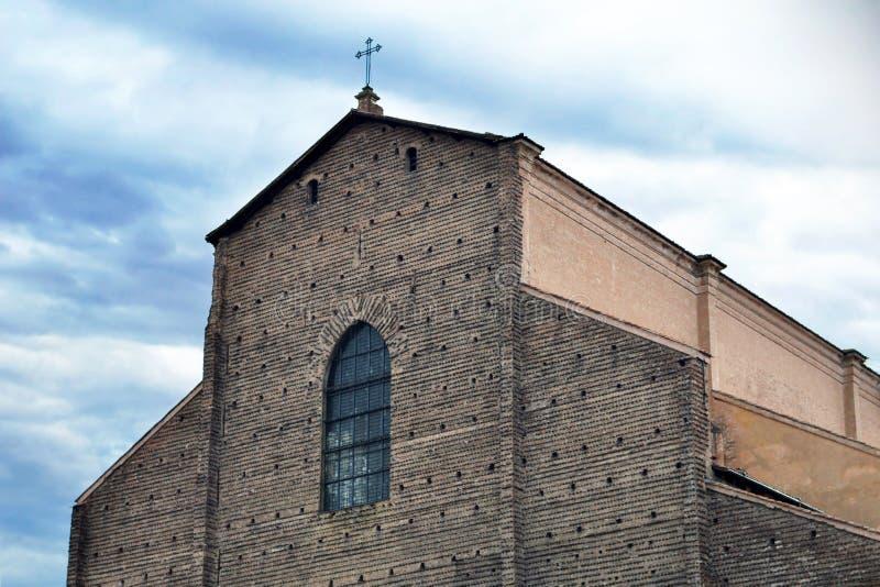 Świątobliwa Petronius bazyliki San Petronio bazylika, Bologna, Włochy obraz stock