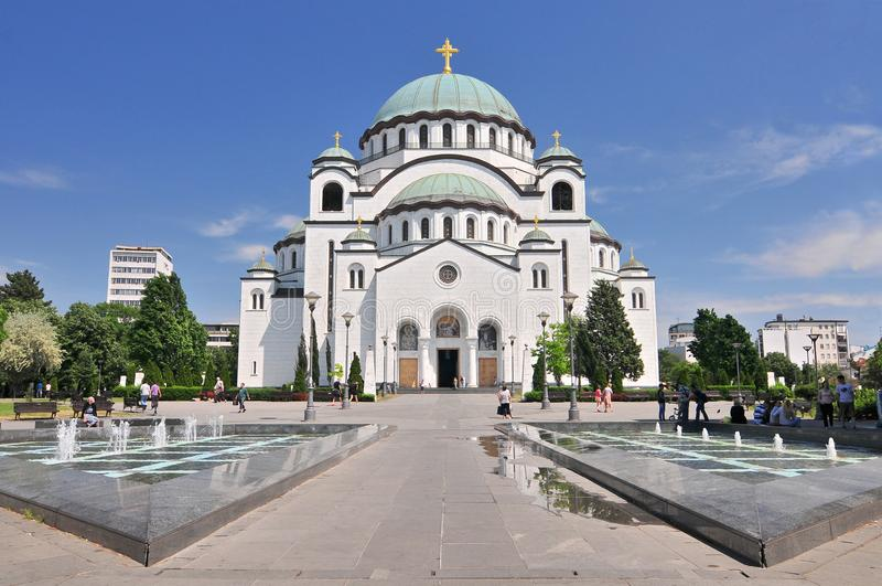 Świątobliwa Sava katedra i zabytek Karageorge Petrovitch w Belgrade, Serbia fotografia stock