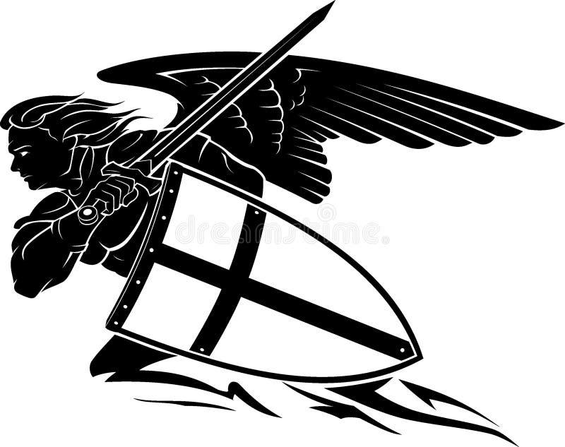 Świątobliwego Michael archanioła Boczny widok royalty ilustracja