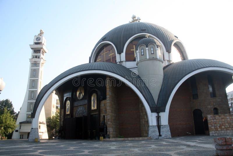 Świątobliwy Łagodny ortodoksyjny kościół, Skopje Macedonia zdjęcie stock