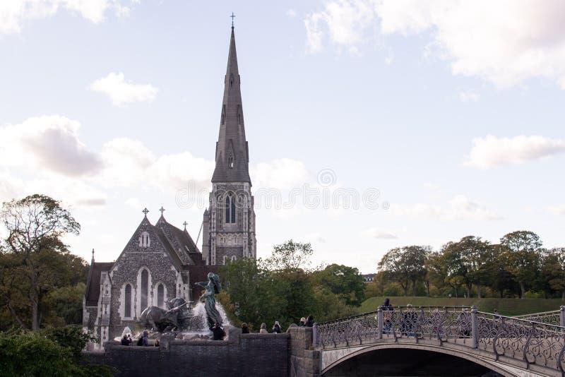 Świątobliwy Alban kościół, także znać jako Angielski kościół obraz stock