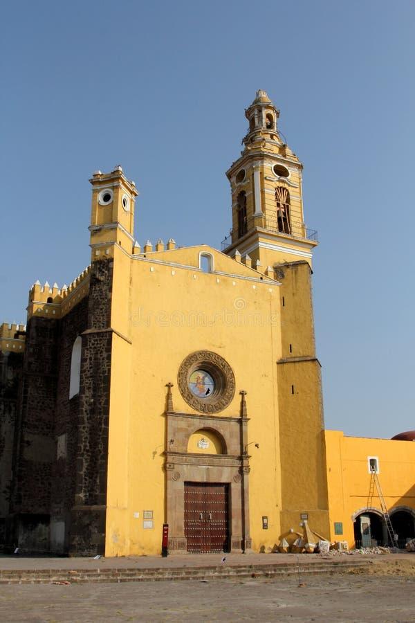Świątobliwy Gabriel archanioła friary, Cholula, Puebla, Meksyk zdjęcie stock