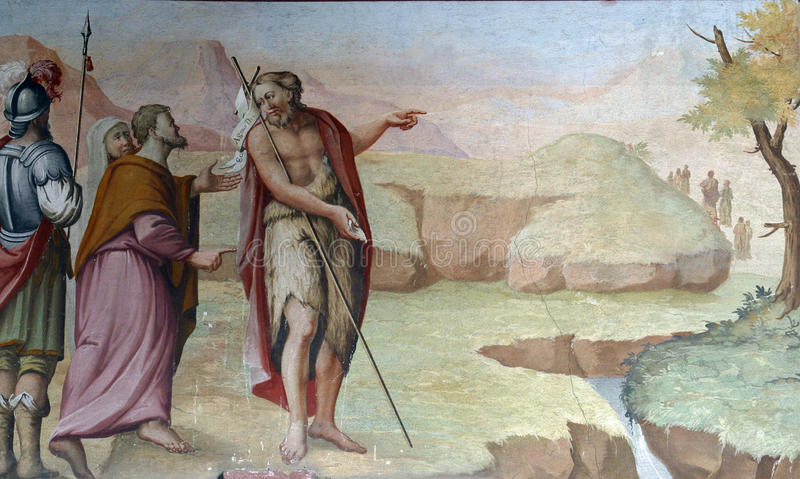 Świątobliwy John baptist royalty ilustracja