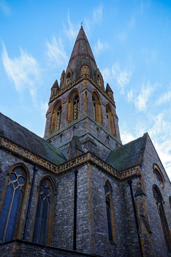 Świątobliwy Michael i Wszystkie aniołowie Kościelni w Exeter, Devon, Zjednoczone Królestwo, Grudzień 28, 2017 obrazy stock