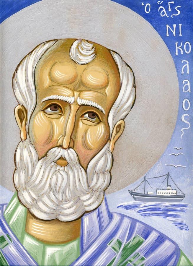 Świątobliwy Nicolas ilustracja wektor