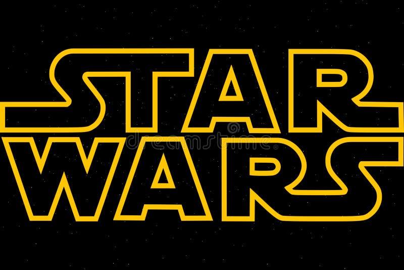 ŚWIĄTOBLIWY PETERSBURG ROSJA, KWIECIEŃ, - 6, 2019: Gwiezdne wojny są tytułem trylogia i ninth epizod Illustrative artykuł wstępny royalty ilustracja