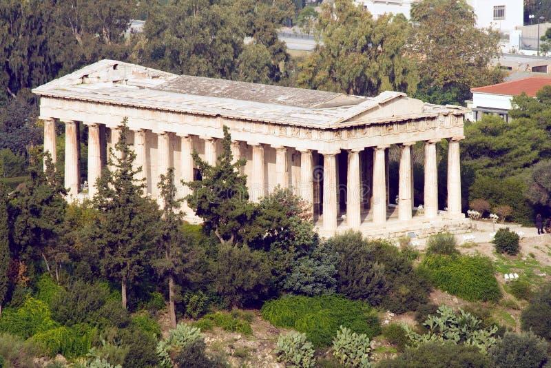 świątyni hephaestus obrazy royalty free