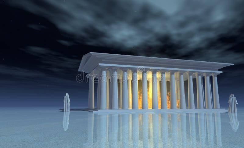 Świątyni mgły ilustracja wektor