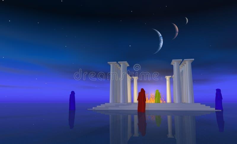 Świątyni mgły royalty ilustracja