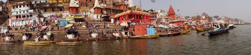 Świątyni miasto Varanasi, India obrazy royalty free