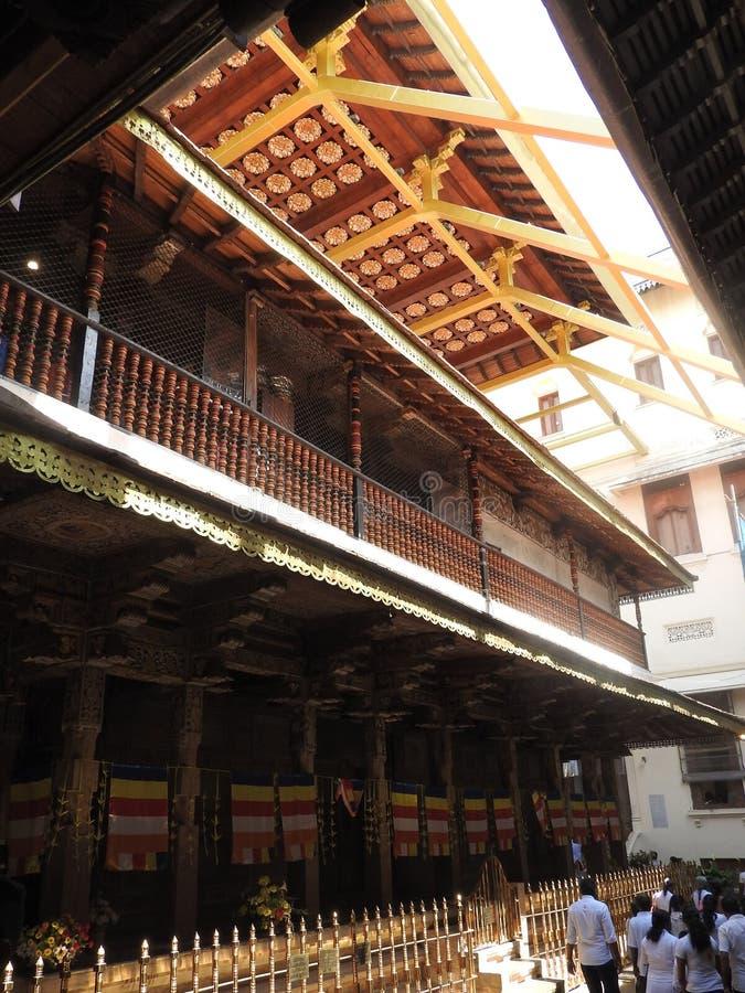 Świątynia święta ząb relikwia Sri Dalada Maligawa w Kandy, Sri Lanka Wyszczególnia relikwii Buddyjską świątynię lokaliz fotografia royalty free