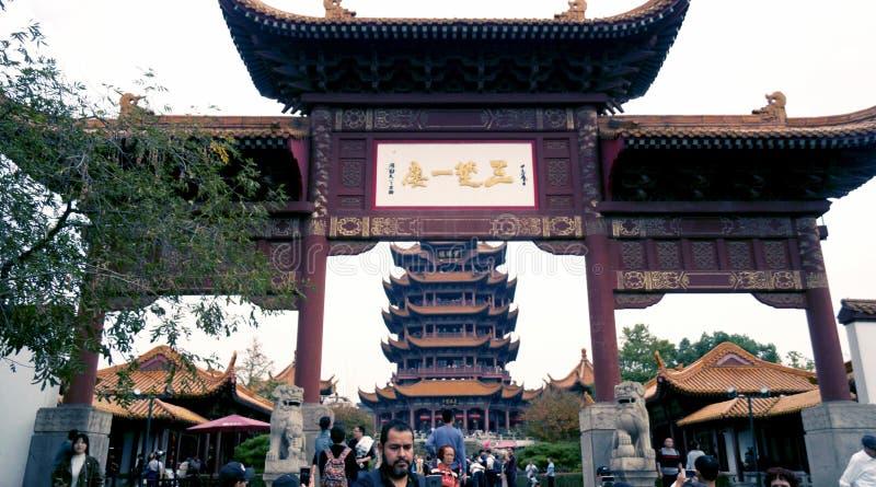 Świątynia Żółtej Wieży Żurawia obraz royalty free