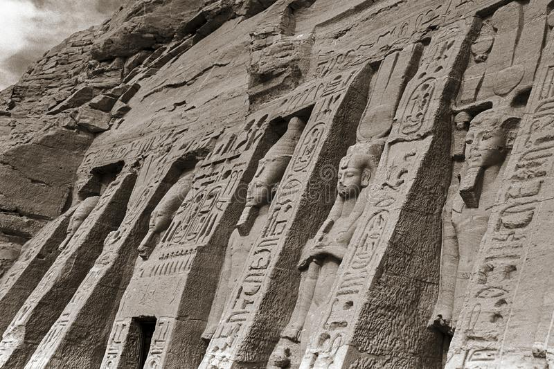 Świątynia Abu Simbel De Nefertari, Egipt, Październik, 2002 obraz stock