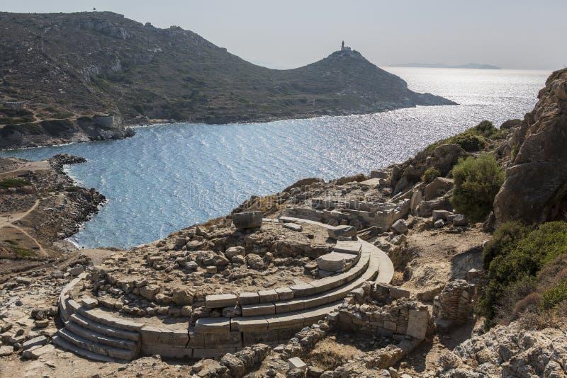 Świątynia Aphrodite w Knidos, Datca, Mugla, Turcja zdjęcie stock