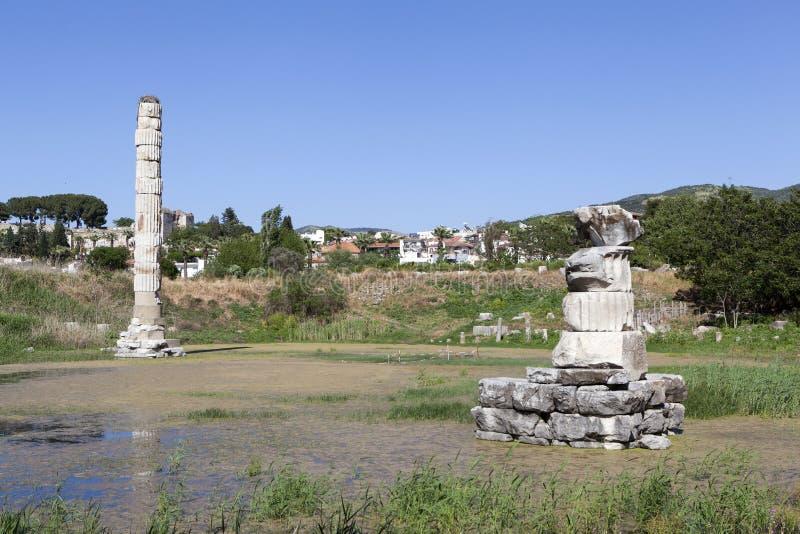 Świątynia artemis Selcuk indyk obrazy royalty free