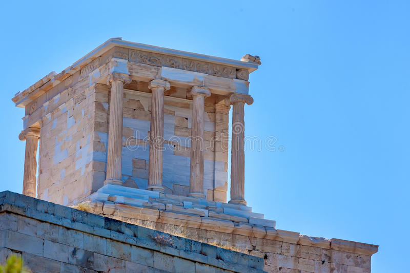 Świątynia Athena Nike na akropolu w Ateny obrazy stock