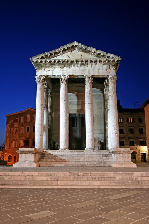 Świątynia Augustus w Pula fotografia royalty free