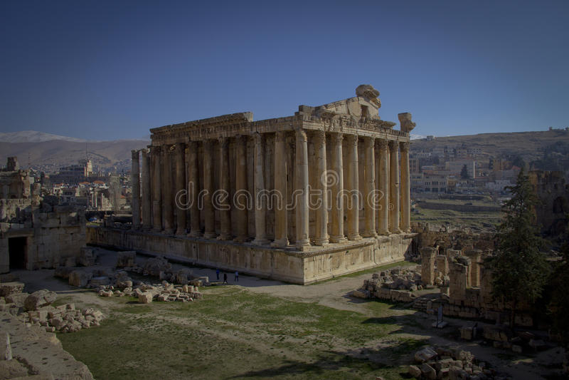 Świątynia Bacchus, Baalbek Liban zdjęcia royalty free