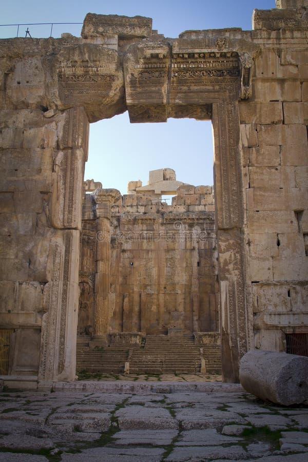 Świątynia Bacchus, Baalbek Liban fotografia stock
