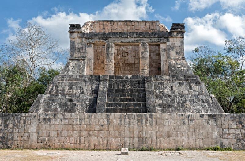 Świątynia brodaty mężczyzna wewnątrz chichen itza Mexico obrazy stock