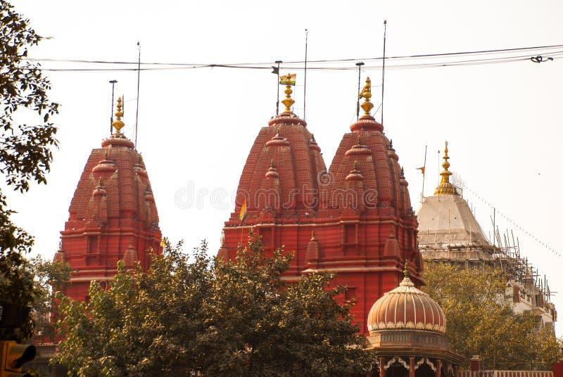 Świątynia budynku Delhi kopuły fortu ind wśrodku nowej czerwieni zdjęcia royalty free