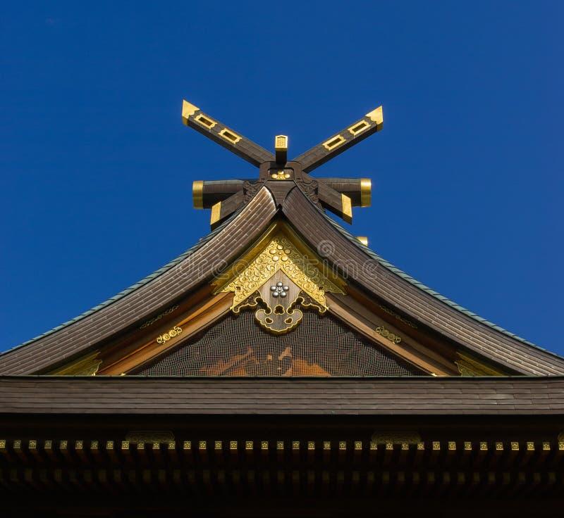 Świątynia bulding dachowego szczegół fotografia stock