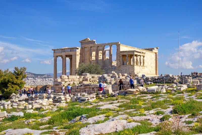 Świątynia Erechtheio, Ateny, Grecja zdjęcia stock