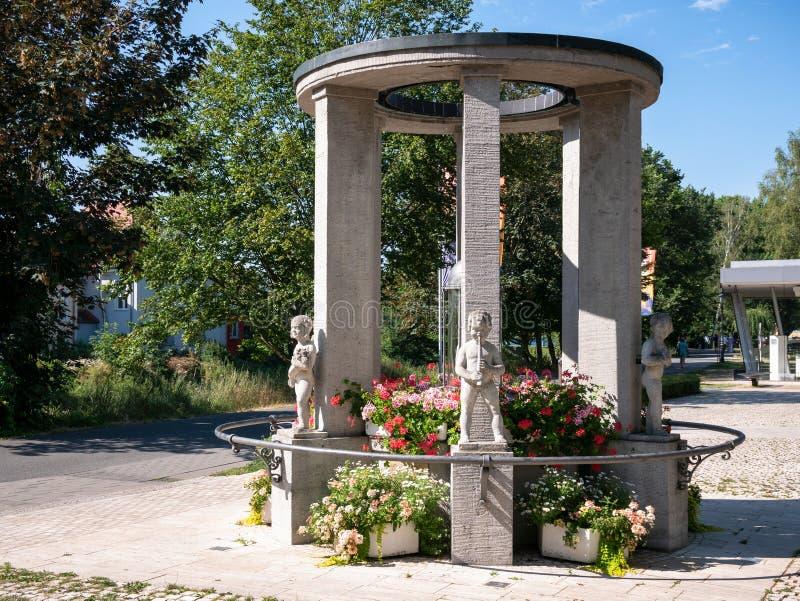 Świątynia Fountain w Bad Vilbel fotografia royalty free
