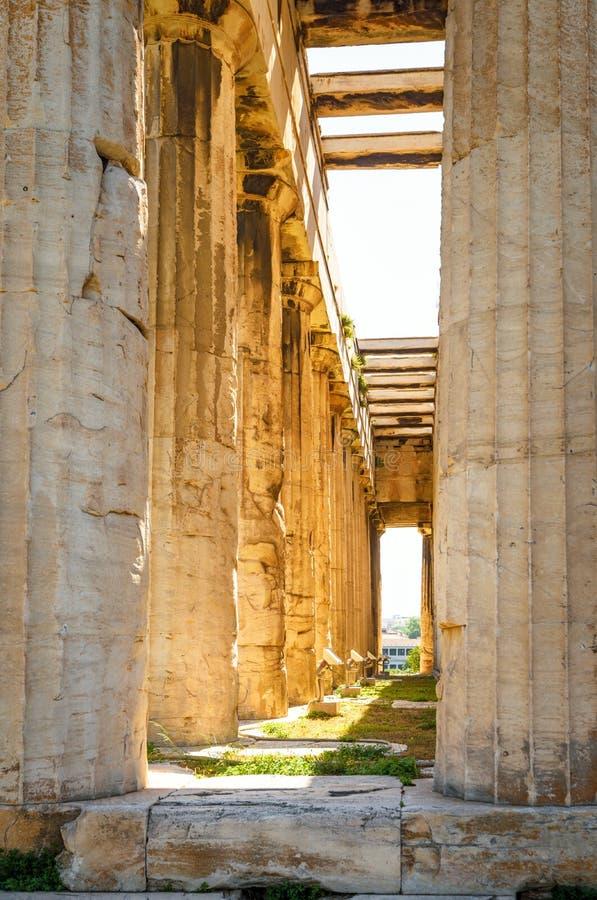 Świątynia Hephaestus w świetle słonecznym, Ateny, Grecja fotografia stock