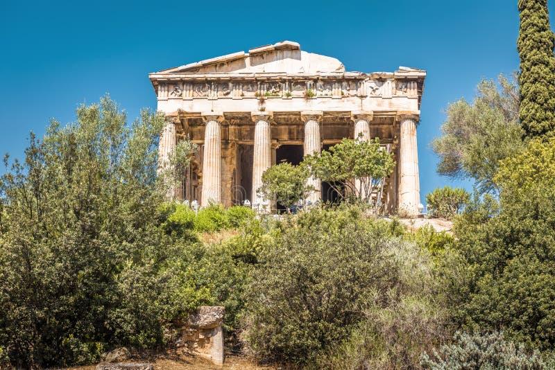 Świątynia Hephaestus w Antycznej agorze, Ateny, Grecja zdjęcia stock