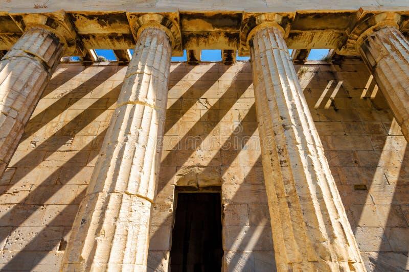 Świątynia Hephaestus w górę, Ateny, Grecja obrazy stock