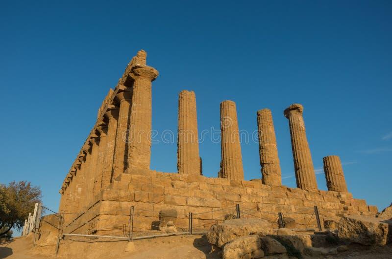 Świątynia Juno lokalizował w parku dolina świątynie obrazy royalty free