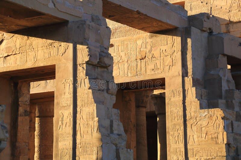 Świątynia Kom Ombo zdjęcie royalty free