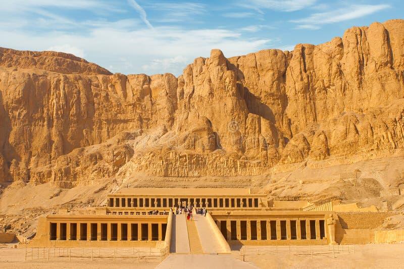 Świątynia królowa Hatshepsut fotografia royalty free