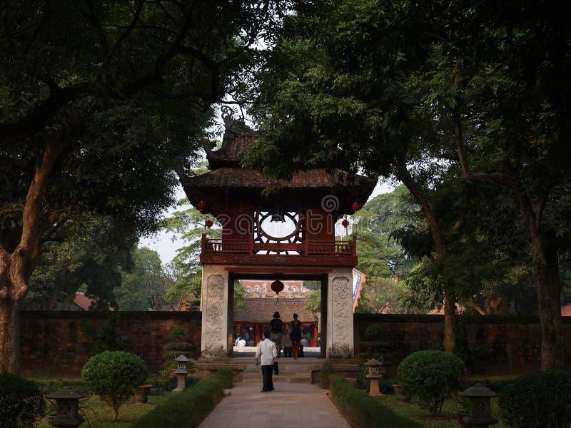 Świątynia literatura, Hanoi, Wietnam (Van mieu-Quoc Tu Giam) obrazy royalty free